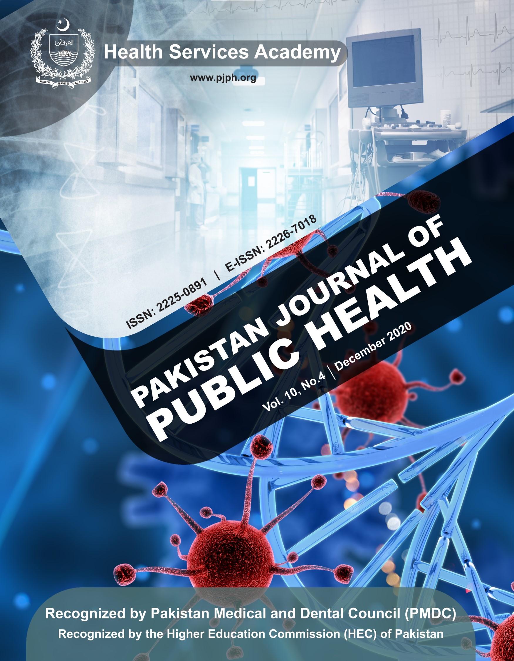View Vol. 10 No. 4 (2020): Pakistan Journal of Public Health